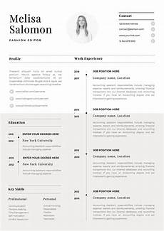 Cv Templates One Page Resume Template With Photo For Word Amp Pages Cv