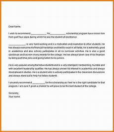 Sample Letter Of Recommendation For Scholarship Letter Of Recommendation For Scholarship Template Business