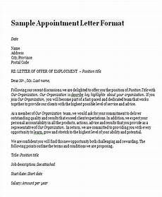 Appointment Letter For Job Format Free 46 Appointment Letter Templates In Ms Word Pages