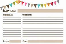Recipes Cards Recipe Cards Free Printables Geminired Creations