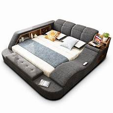 modern multipurpose bed with electric bluetooth safe