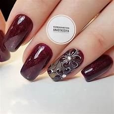 Burgundy And Black Nail Designs 21 Stunning Burgundy Nails Designs That Will Conquer Your