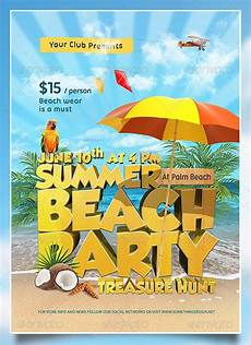 Beach Party Flyer Template Free 27 Amazing Psd Beach Party Flyer Templates Free