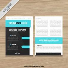 Magazine Template Magazine Template Design With Blue Elements Vector Free