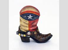 "4"" Lone Star Flag Cowboy Boot Mini Vase   Texas and"