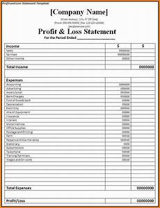Excel Profit And Loss Worksheet Simple Profit And Loss Statement Excel