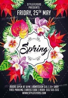Spring Event Flyer Template Spring Psd Flyer Template 18070 Styleflyers