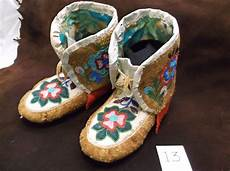 cree beaded high top moccasins 11 quot l