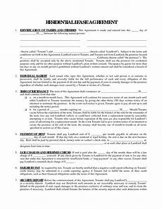 Free Rental Lease To Print Printable Residential Free House Lease Agreement
