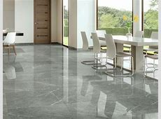 Grey Polished Porcelain Tiles   Marble Effect.