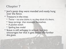 To Kill A Mockingbird Chapter 7 Summary Quot To Kill A Mockingbird Quot Chapters 1 31 Notes
