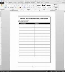 Staff Training Record Template Free Training Record Template