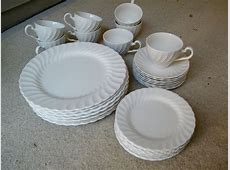 White Ironstone Dinnerware / Johnson Brothers / England