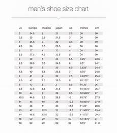 Us Shoe Size Chart Inches Size Charts Measurements Jcpenney