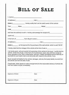 Bill Of Sale For Car Sale Free Printable Car Bill Of Sale Form Generic