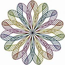 geometric circle embroidery design annthegran