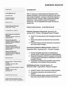 Physiotherapy Resume Sample Resume Example 7 Easy Ways To Improve Your Physical