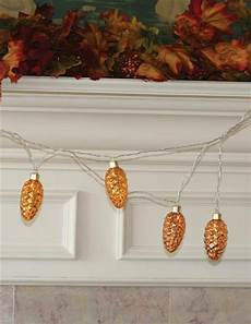 Pine Cone String Lights Pine Cone Led String Lights Mercury Amber Glass Holiday