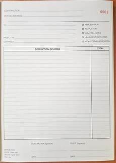 Work Instruction Form New Onsite Books For Civil Contractors Civil Contractors
