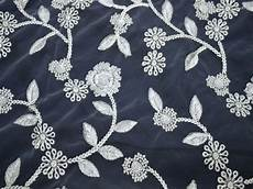 embroidery fabric white tulle embroidery fabric floral embroidered saree