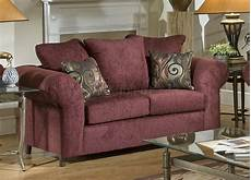burgundy fabric traditional sofa loveseat set