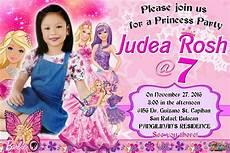 Sample 7th Birthday Invitation Barbie Design Sample Invitation For 7th Birthday Get Layout