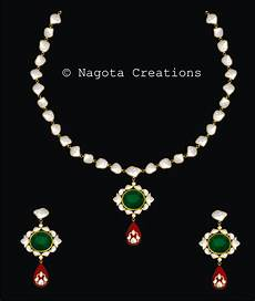 24 Karat Gold Jewellery Designs 24 Carat Yellow Gold Kundan Meena Necklace Set