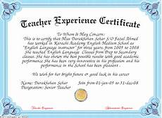 Service Certificate Model 10 Experience Certificate Format Certificate Format