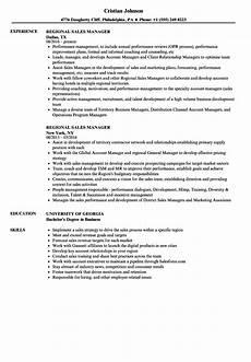 Regional Manager Resume Examples Regional Sales Manager Resume Samples Velvet Jobs