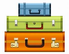transparent suitcases png clipart picture printable