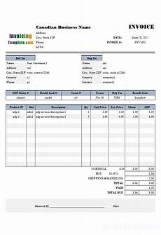 Invoice Template Canada Canadian Commercial Invoice Template