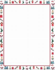 Letter Borders Templates Christmas Letter Borders Free Printable Theveliger