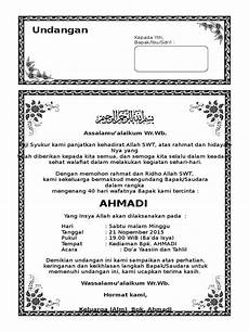 download undangan tahlil 40 hari ms word undangan