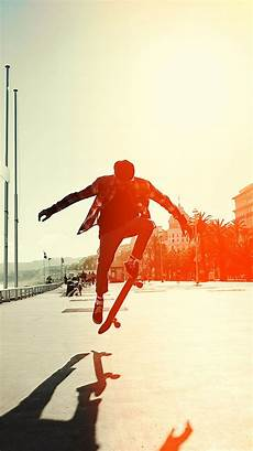 Skateboarding Iphone Wallpaper by Skate Jump Wallpaper For Iphone X 8 7 6 Free