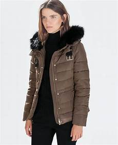 zara coats winter sale pins quilted anorak with fur quilted coat outerwear