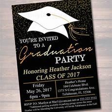 Graduation Party Invite Template Editable Graduation Party Invitation High School Graduation