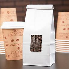 Coffee Bag 1 2 Lb White Customizable Tin Tie Coffee Bag With Window