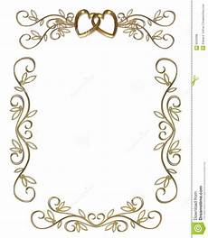 Wedding Page Border Wedding Or Party Invitation Gold Border Stock Illustration