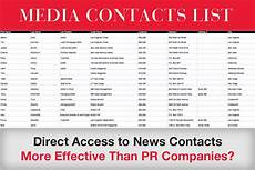 Media Contact List Template Media Contacts List Most Effective Form Of Press Releases