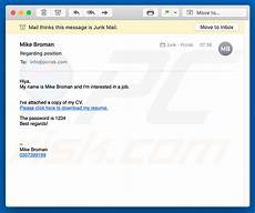 Resume Emails How To Remove Job Application Email Virus Virus Removal