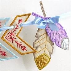 embroidery projects feather banner spacer in the hoop machine embroidery
