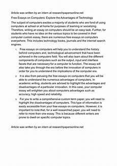 Essay Computer Technology 016 Essay Example Computer Advantages And Disadvantages