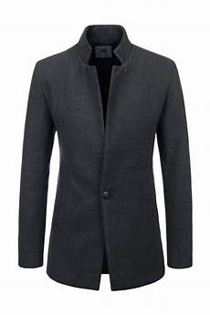 coats and blazers for charcoal grey stand up collar jackets blazers single