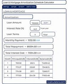 Home Amortization Calculators Payment Schedule Amortization Calculator