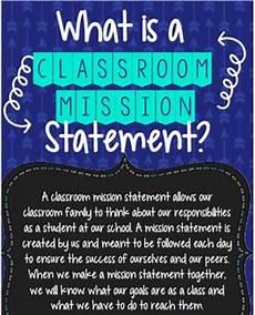 Classroom Mission Statement Editable Creating A Classroom Mission Statement By