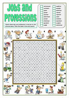 Daily Job Activities Jobs And Professions Wordsearch Worksheet Free Esl