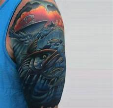 fishing sleeve 75 bass designs for sea fairing ink ideas