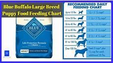 Blue Buffalo Puppy Feeding Chart Blue Buffalo Large Breed Puppy Food Feeding Chart 1 In