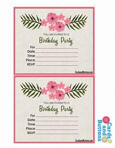 Free Birthday Invitation Printables Free Printable Floral Invitations For Birthday