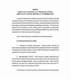 Sample Of Corporate Minutes Corporate Meeting Minutes Template 10 Free Word Excel
